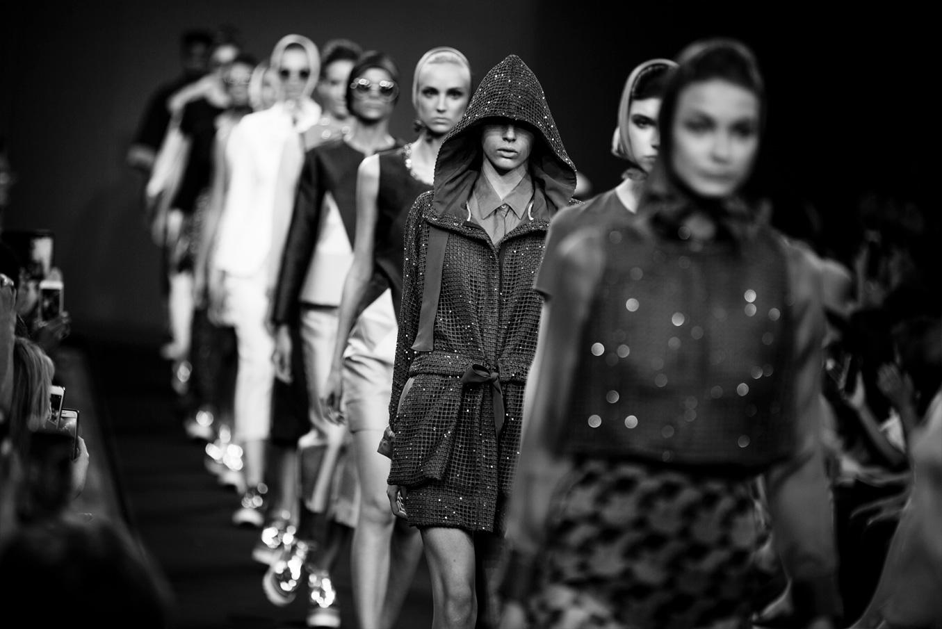 Fashion on catwalk